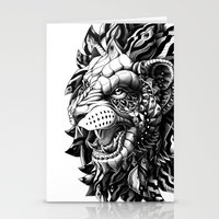 lion Stationery Cards featuring Lion by BIOWORKZ