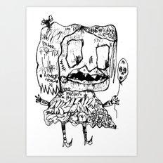 Weird Girl Art Print
