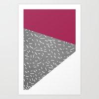 Concrete & Lines Art Print
