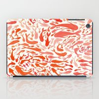 Koi - Coral & White iPad Case