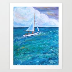 Gone Sailing Art Print