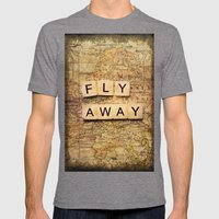 Fly Away-2 Mens Fitted Tee Tri-Grey SMALL