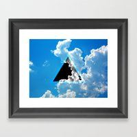 Void In The Sky Framed Art Print