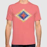 Painted Navajo Suns Mens Fitted Tee Pomegranate SMALL