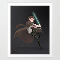 Becky Jedi Art Print