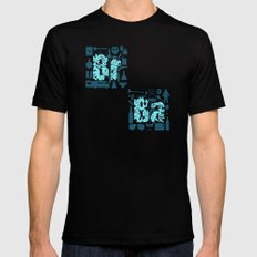 Br Ba SMALL Black Mens Fitted Tee