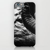 iPhone & iPod Case featuring Tom Feiler Black and White Ram by Tom Feiler