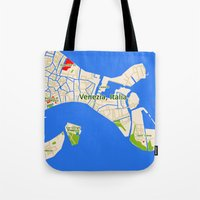 Venice Italy Map design - Venazia Italia Tote Bag
