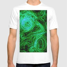 Experiment SMALL White Mens Fitted Tee