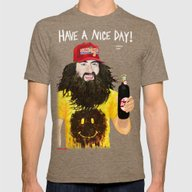 HAVE A NICE DAY! Mens Fitted Tee Tri-Coffee SMALL