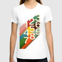 retro T-shirts featuring Retro Numbers by Picomodi