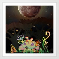 Mini Shrooms Art Print