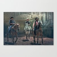They Came One Night Canvas Print