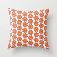 Spring Floral Pattern Throw Pillow
