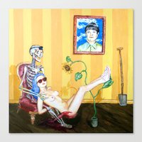 Blood And Bones In A Yel… Canvas Print