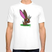 Baby Jackalope Mens Fitted Tee White SMALL
