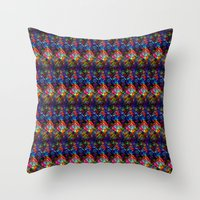 Maze of Quilts Throw Pillow