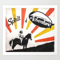 spirit of adventure Art Print