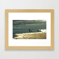 Ocean Glitter Framed Art Print