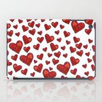 Hearts Motif iPad Case