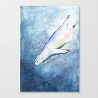 Deep Diving Canvas Print