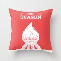 Pitch Season (Burning weekends) Throw Pillow