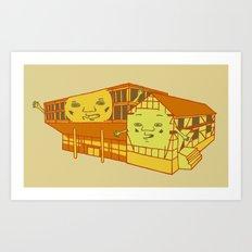 Old school and new school Art Print