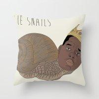 BIGGIE SNAILS Throw Pillow