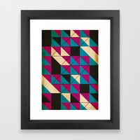 blocked Framed Art Print