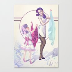 Sisterly Affection Canvas Print