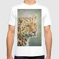 Leopard Mens Fitted Tee White SMALL