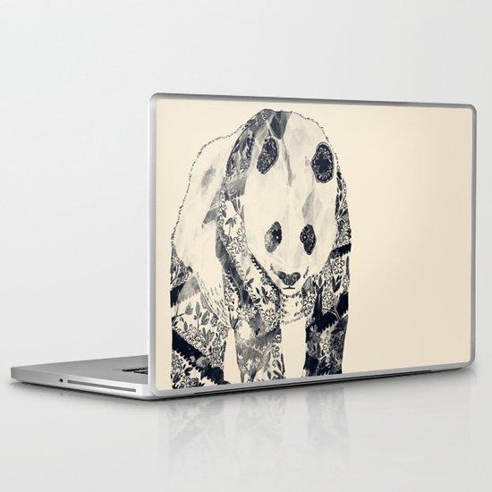 Tattooed Panda {cream} Laptop & iPad Skin