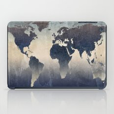 World Map Gray iPad Case