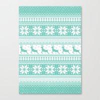 Reindeer Sweater Canvas Print