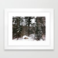 Somewhere in the Haliburton forest Framed Art Print