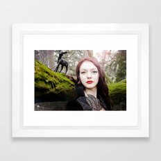 Neige Framed Art Print