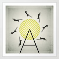 Flywheel (A is for Airplane) Art Print