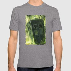 Tardis In The Swamp Mens Fitted Tee Tri-Grey SMALL