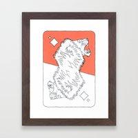 Lion Card Framed Art Print