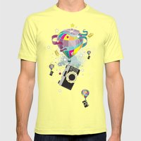 Traveling camera Mens Fitted Tee Lemon SMALL
