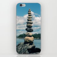 Leaning Tower Of Pebbles iPhone & iPod Skin