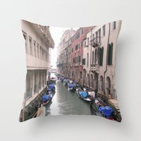 Streets in Venice Throw Pillow