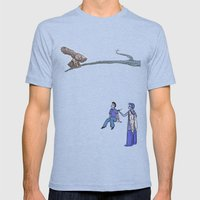 The Bird Of Truth Mens Fitted Tee Tri-Blue SMALL
