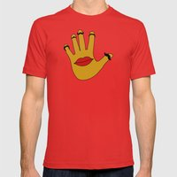 Handfaces Mens Fitted Tee Red SMALL