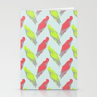 Pale Parrots Stationery Cards