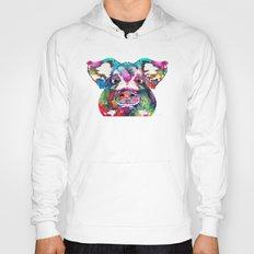 Colorful Pig Art - Squea… Hoody
