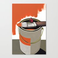 Stop and think Canvas Print