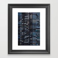 Density - New York City … Framed Art Print