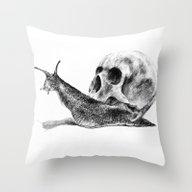 Throw Pillow featuring Skull by Anna Shell