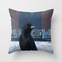 Be Crow Throw Pillow